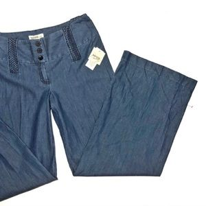 Kensie Soft Denim Wide Leg Pants • 8